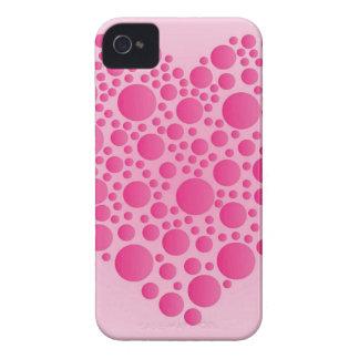 Bubble Pink  Hart iPhone 4 Case