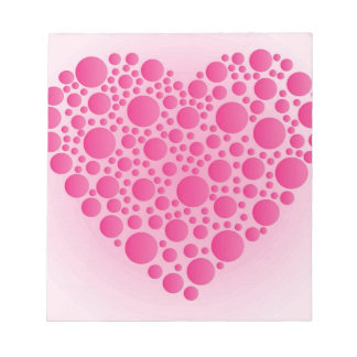 Bubble Pink  Hart Notepad