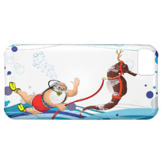 Bubble Santa Claus and Seahorse iPhone 5C Covers