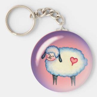 BUBBLE SHEEP by SHARON SHARPE Keychain