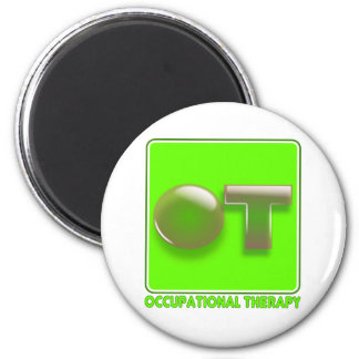 Bubble shirt design lime 2 inch round magnet