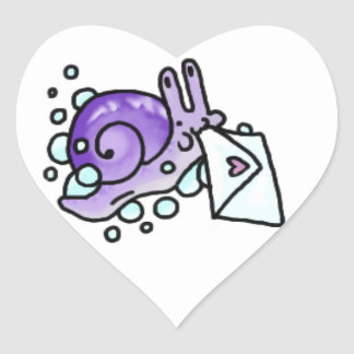 Bubble Snail Mail Heart Stickers