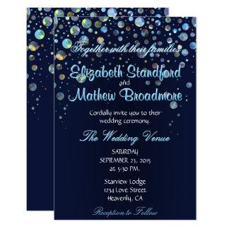 """Bubble Stars 3.5"""" X 5"""" Invitation Card"""
