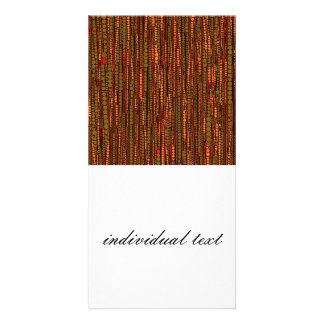 Bubble Stripes red Photo Greeting Card