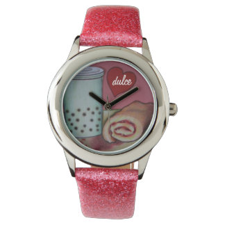 bubble tea and jelly roll wrist watch dulce
