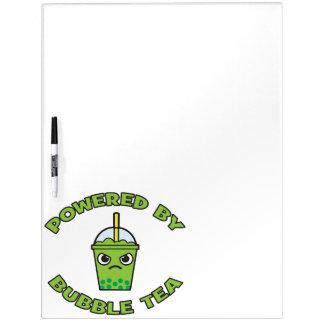 Bubble Tea, Powered By Bubble Tea - Cute Kawaii Dry Erase Board