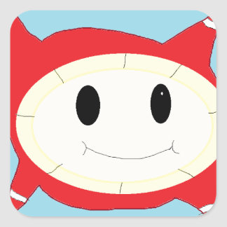 bubble thing square sticker