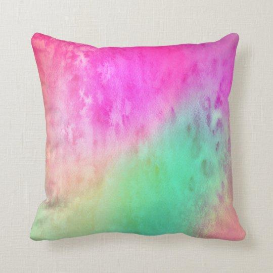 Bubble Up Watercolors Pillow No. 2