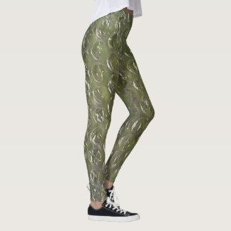 Bubble Wrap Green Leggings