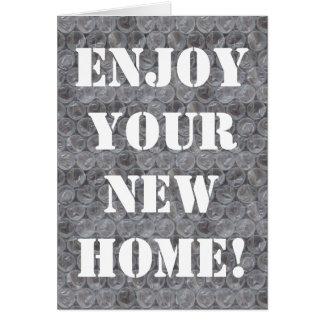 Bubble wrap housewarming card