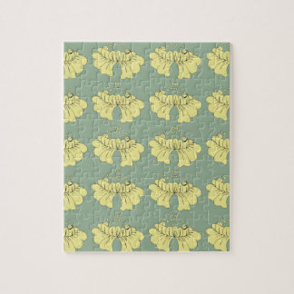 bubbleflower yellow on green jigsaw puzzle