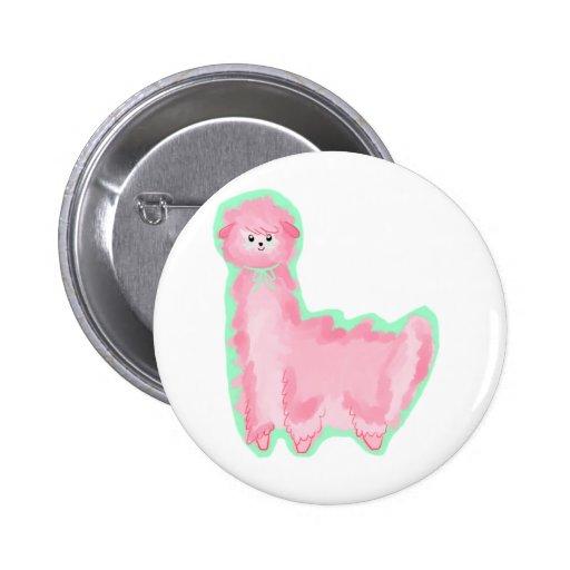 Bubblegum Alpaca Button