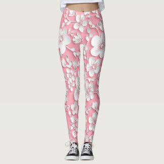 BubbleGum Flowers Leggings