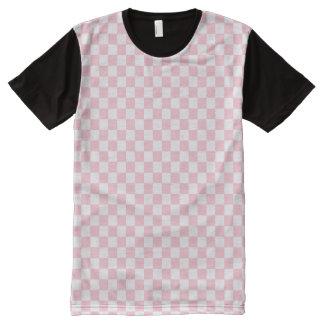 Bubblegum Pink Checkerboard All-Over-Print T-Shirt