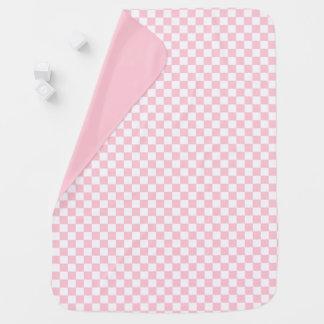 Bubblegum Pink Checkerboard Baby Blanket
