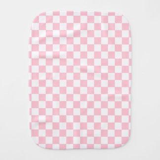 Bubblegum Pink Checkerboard Burp Cloth