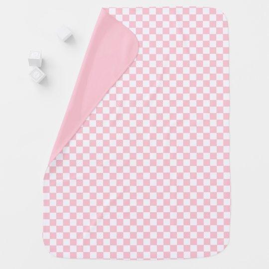 Bubblegum Pink Chequerboard Baby Blanket