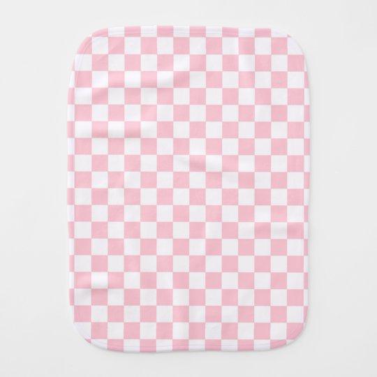 Bubblegum Pink Chequerboard Burp Cloth