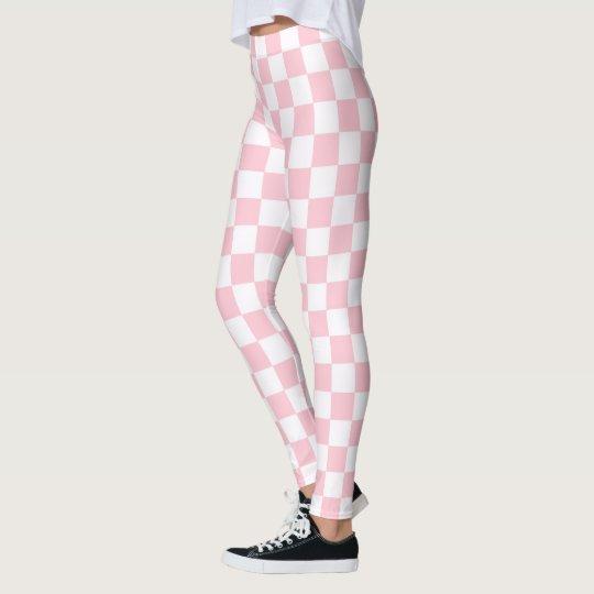 Bubblegum Pink Chequerboard Leggings