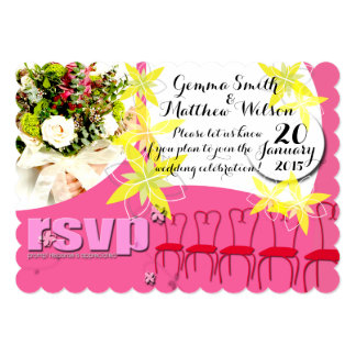 Bubblegum Pink Wedding Invitation RSVP