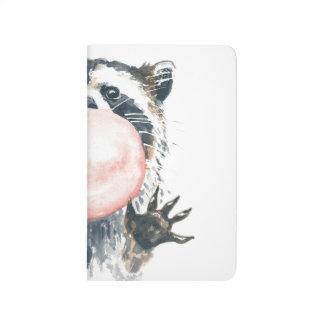Bubblegum Racoon Pocket Notebook Journals