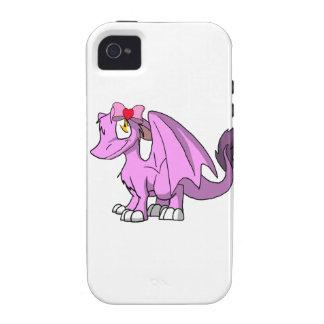 Bubblegum SD Furry Dragon w/ Valentine's Day Bow 1 iPhone 4/4S Cover