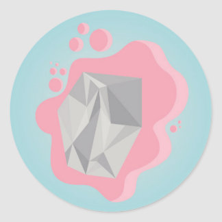 BUBBLEGUM X DIAMOND CLASSIC ROUND STICKER