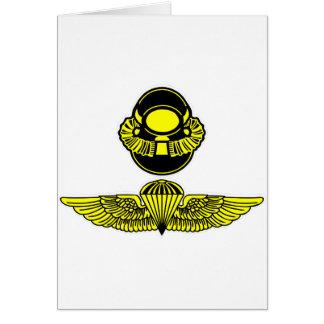 Bubblehead Helmet & Jumpwings Greeting Card