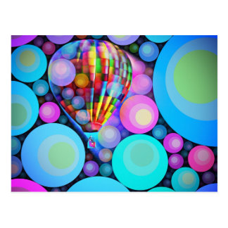 Bubbles and Balloon Postcard