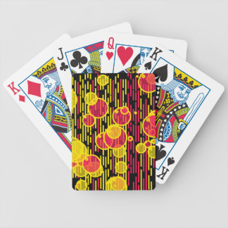 Bubbles and lines bicycle playing cards