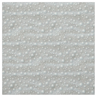 Bubbles and Pearls Silver Blue White Fabric