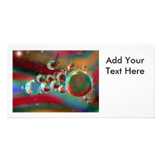 Bubbles and Raven Abstract Planets Photo Greeting Card
