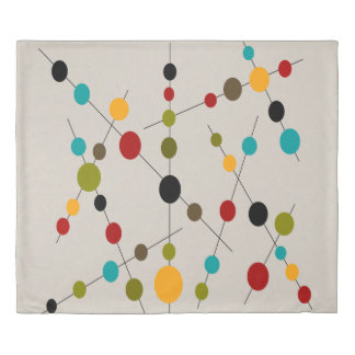 Bubbles and Sticks Mid-Century Modern Inspired Duvet Cover