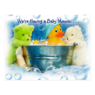 Bubbles Baby Shower Invitations Postcard
