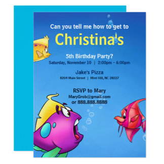 "Bubble's Birthday Card 4.25"" X 5.5"" Invitation Card"