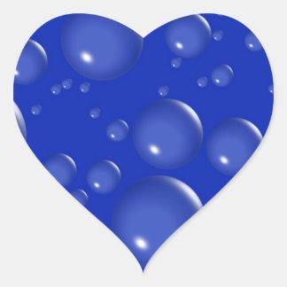 Bubbles Blue Heart Stickers