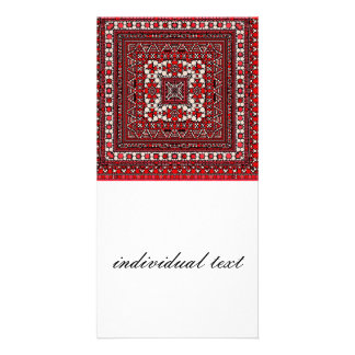 bubbles,border mix,red photo card template