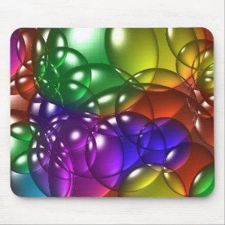 Bubbles colored mouse pad