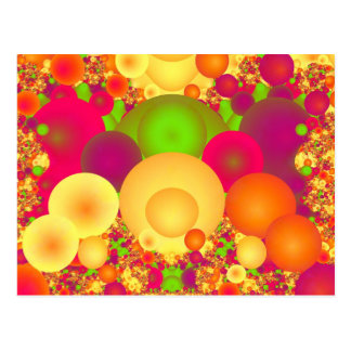 Bubbles Cool Colorful Abstract Fine Fractal Postcard