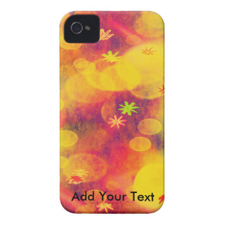 Bubbles & Flowers in Yellow iPhone 4 Case-Mate Cases