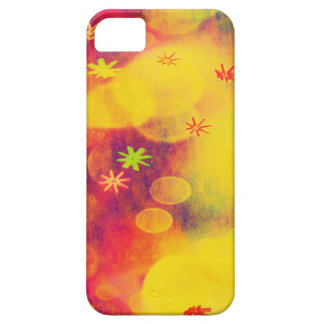 Bubbles & Flowers in Yellow iPhone 5 Covers