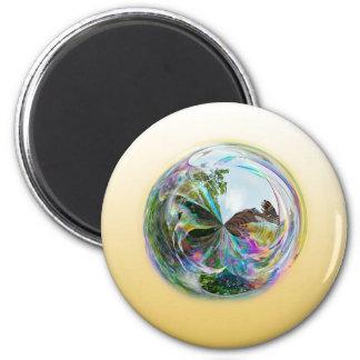 Bubbles Globe 2 Inch Round Magnet