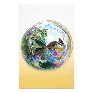 Bubbles Globe Stationery
