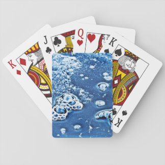 Bubbles Ice Water Blue Abstract Playing Cards