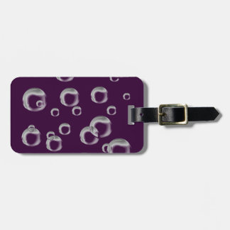 Bubbles in Black and White Luggage Tag