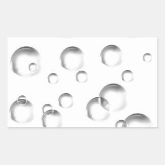 Bubbles in Black and White Sticker