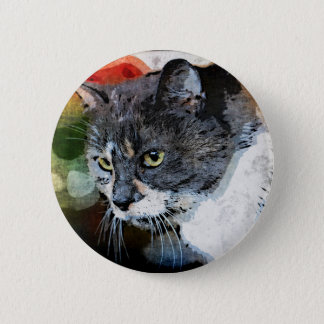 BUBBLES INTENTLY FOCUSED 2 INCH ROUND BUTTON