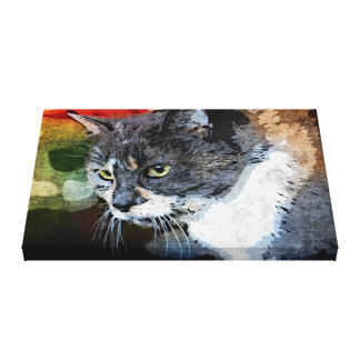 BUBBLES INTENTLY FOCUSED CANVAS PRINT