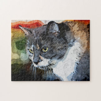 BUBBLES INTENTLY FOCUSED JIGSAW PUZZLE