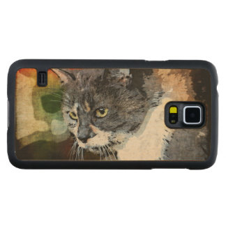 BUBBLES INTENTLY FOCUSED MAPLE GALAXY S5 SLIM CASE